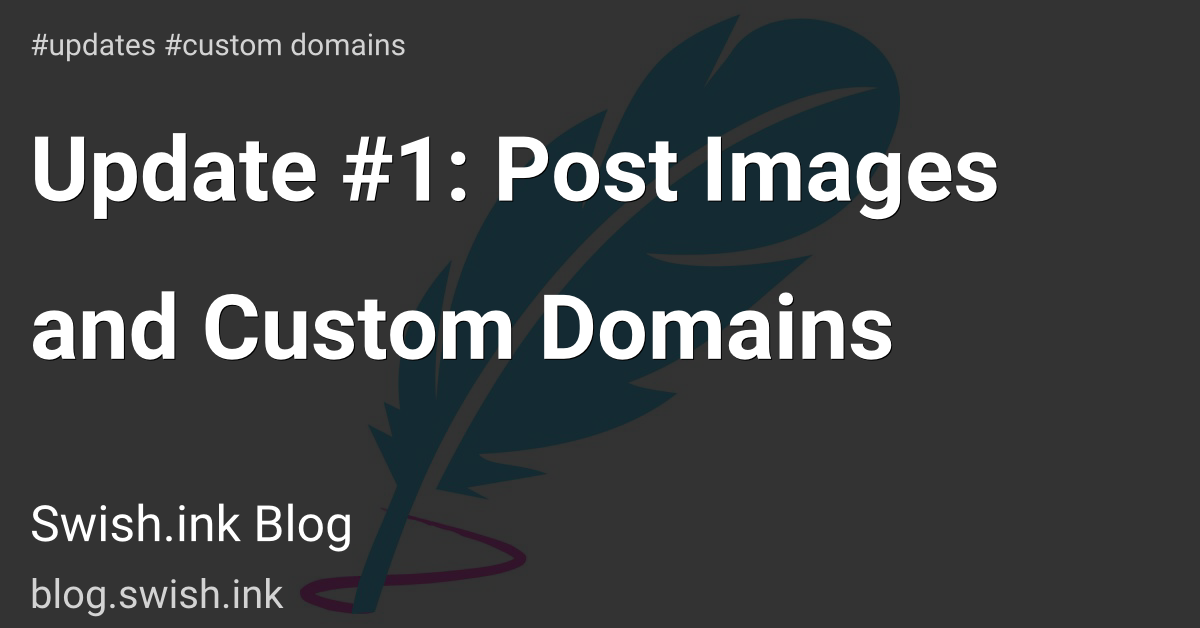 Update #1: Post Images and Custom Domains